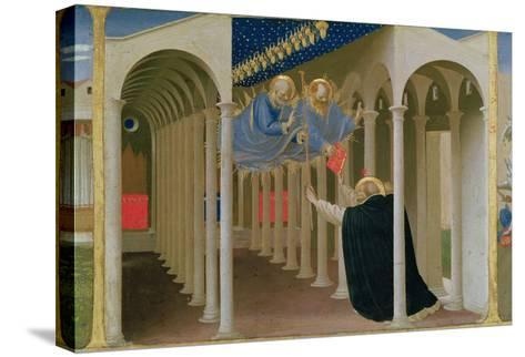 Apparition of Ss. Peter and Paul to St. Dominic, Coronation of the Virgin, c.1430-32-Fra Angelico-Stretched Canvas Print
