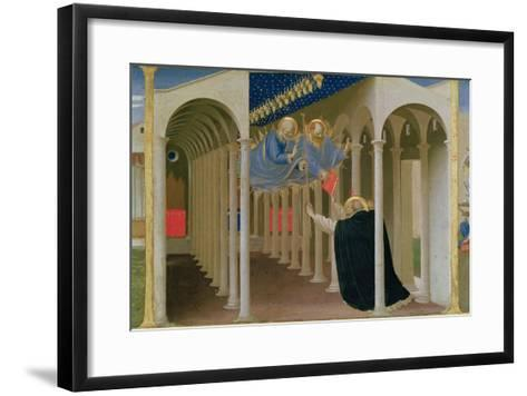 Apparition of Ss. Peter and Paul to St. Dominic, Coronation of the Virgin, c.1430-32-Fra Angelico-Framed Art Print