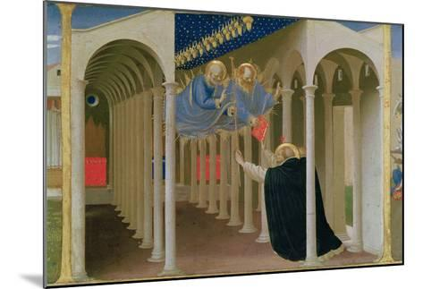 Apparition of Ss. Peter and Paul to St. Dominic, Coronation of the Virgin, c.1430-32-Fra Angelico-Mounted Giclee Print