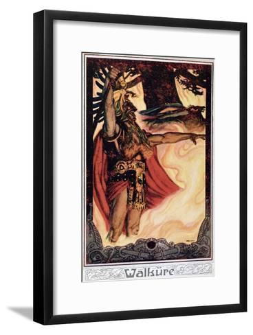 Postcard Depicting Odin Calling Up the Fire, 1914--Framed Art Print
