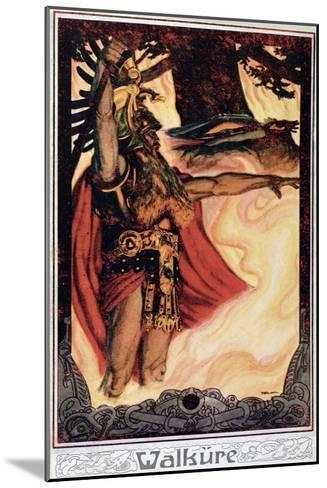 Postcard Depicting Odin Calling Up the Fire, 1914--Mounted Giclee Print