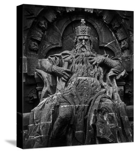 Monument to Emperor Barbarossa, Kyffhaeuser Mountain-Simon Marsden-Stretched Canvas Print