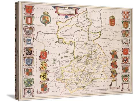 Map of Cambridgeshire, Published Amsterdam c.1647-48-W.j. Blaeu-Stretched Canvas Print