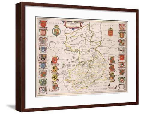 Map of Cambridgeshire, Published Amsterdam c.1647-48-W.j. Blaeu-Framed Art Print
