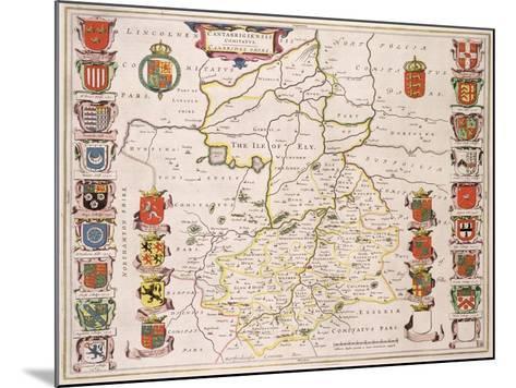 Map of Cambridgeshire, Published Amsterdam c.1647-48-W.j. Blaeu-Mounted Giclee Print
