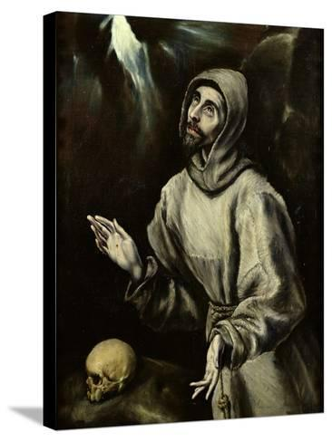 St. Francis of Assisi Receiving the Stigmata, c.1595-El Greco-Stretched Canvas Print
