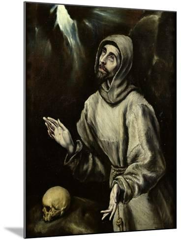 St. Francis of Assisi Receiving the Stigmata, c.1595-El Greco-Mounted Giclee Print
