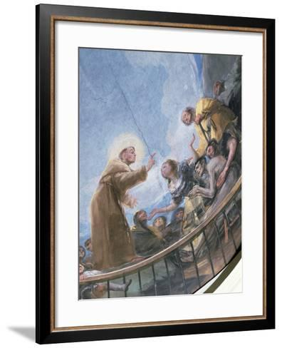 St. Anthony Preaching, Detail from the Miracle of St. Anthony of Padua, from the Cupola, 1798-Francisco de Goya-Framed Art Print