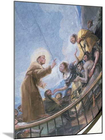 St. Anthony Preaching, Detail from the Miracle of St. Anthony of Padua, from the Cupola, 1798-Francisco de Goya-Mounted Giclee Print