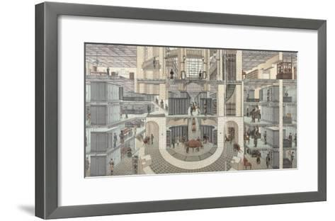 Cross-Section of the Basement of the Credit Lyonnais, 19 Boulevard Des Italiens, c.1878-82--Framed Art Print