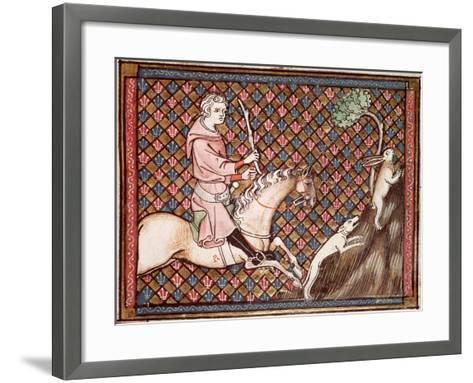 Hunting Hares, from Ovide Moralise Written by Chretien Legouais--Framed Art Print