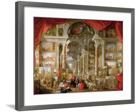 Gallery with Views of Modern Rome, 1759-Giovanni Paolo Pannini-Framed Art Print