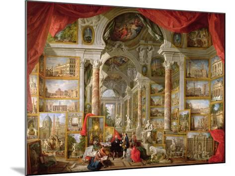 Gallery with Views of Modern Rome, 1759-Giovanni Paolo Pannini-Mounted Giclee Print