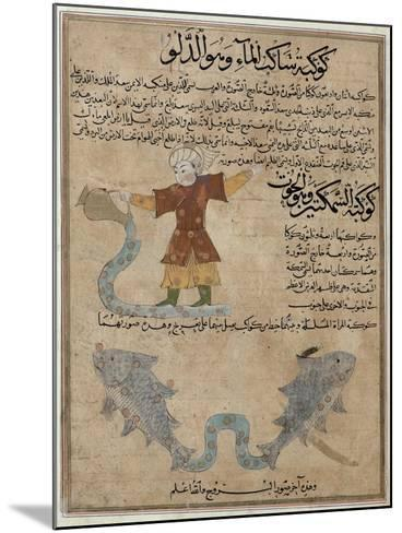 Aquarius and Pisces, the Wonders of the Creation and the Curiosities of Existence by Al-Qazwini--Mounted Giclee Print