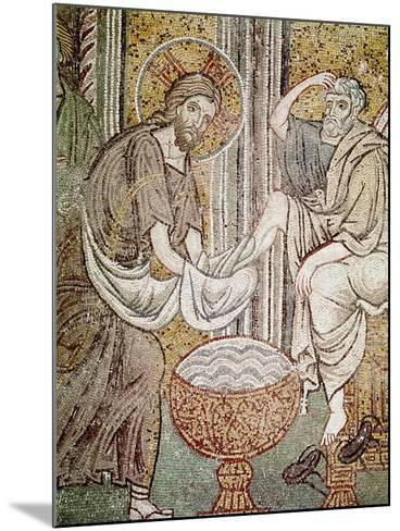 Jesus and St. Peter, Detail from Jesus Washing the Feet of the Apostle--Mounted Giclee Print
