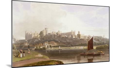 Windsor Castle, River Meadow on Thames, from Views of Windsor, Eton and Virginia Water, c.1827-30-Thomas & William Daniell-Mounted Giclee Print