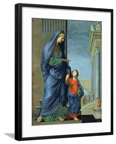 St. Anne Leading the Virgin to the Temple, c.1635-45-Jacques Stella-Framed Art Print