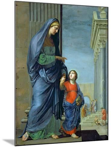 St. Anne Leading the Virgin to the Temple, c.1635-45-Jacques Stella-Mounted Giclee Print