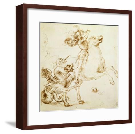 St. George and the Dragon-Raphael-Framed Art Print
