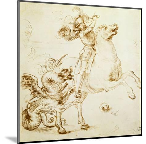 St. George and the Dragon-Raphael-Mounted Giclee Print
