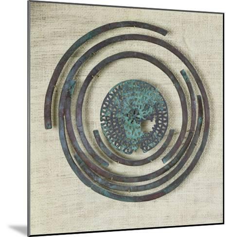 Jewelry Known as the Bouclier de Pudeur, Cassard Tumulus at Flagey, Hallstatt Civilisation- Gaulish-Mounted Giclee Print