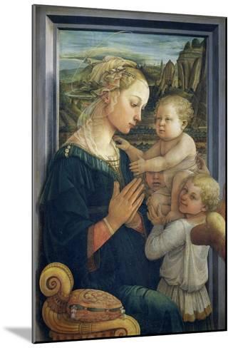 Madonna and Child with Angels, c.1455-Fra Filippo Lippi-Mounted Giclee Print
