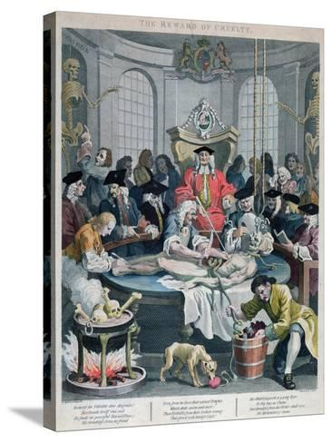 The Reward of Cruelty, from the Four Stages of Cruelty, Engraved by Thomas Cook-William Hogarth-Stretched Canvas Print
