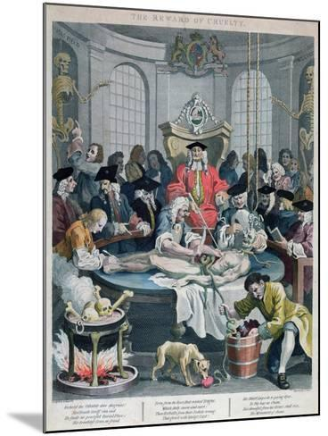 The Reward of Cruelty, from the Four Stages of Cruelty, Engraved by Thomas Cook-William Hogarth-Mounted Giclee Print