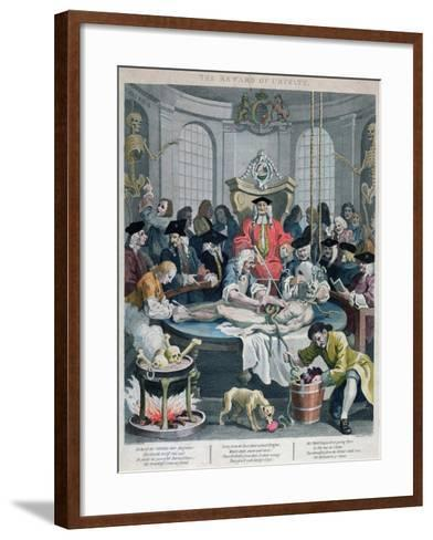 The Reward of Cruelty, from the Four Stages of Cruelty, Engraved by Thomas Cook-William Hogarth-Framed Art Print