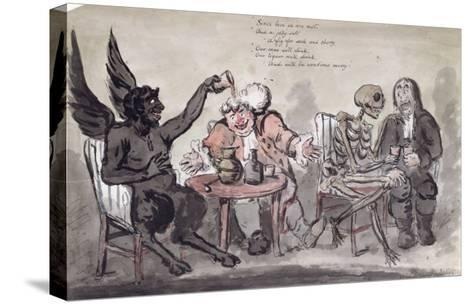 The Doctor and His Friends, Engraved by Issac Cruikshank-George Moutard Woodward-Stretched Canvas Print