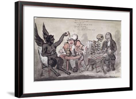 The Doctor and His Friends, Engraved by Issac Cruikshank-George Moutard Woodward-Framed Art Print