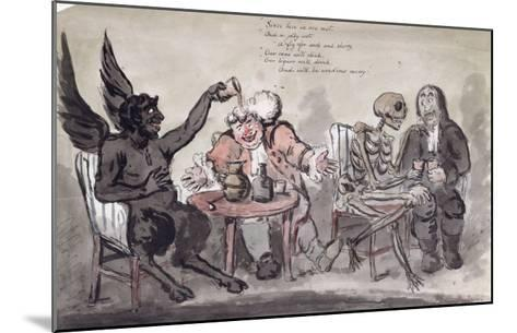 The Doctor and His Friends, Engraved by Issac Cruikshank-George Moutard Woodward-Mounted Giclee Print