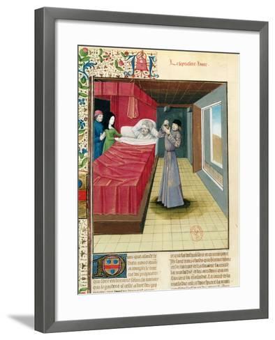 Doctor Performing a Urine Analysis, Livre Des Proprietes Des Choses L'Anglais, 1480--Framed Art Print