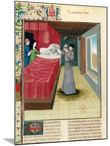 Doctor Performing a Urine Analysis, Livre Des Proprietes Des Choses L'Anglais, 1480--Mounted Giclee Print