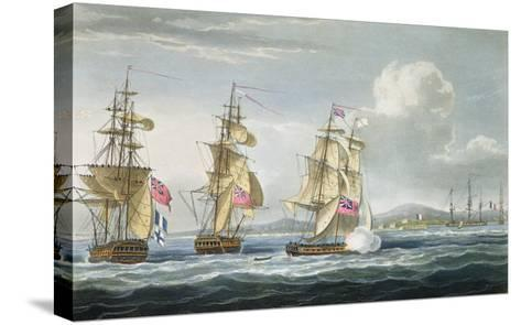 Surrender of Tamatave, Engraved Sutherland, The Naval Chronology of Great Britain, c.1820-Thomas Whitcombe-Stretched Canvas Print