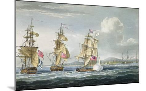Surrender of Tamatave, Engraved Sutherland, The Naval Chronology of Great Britain, c.1820-Thomas Whitcombe-Mounted Giclee Print