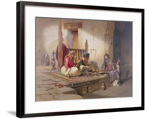 Weaver in Esna, One of 24 Illustrations Produced by G.W. Seitz, Printed c.1873-Carl Friedrich Heinrich Werner-Framed Art Print