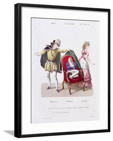 Count Discovers Cherubin, The Marriage of Figaro by Pierre Augustin Caron de Beamarchais--Framed Art Print