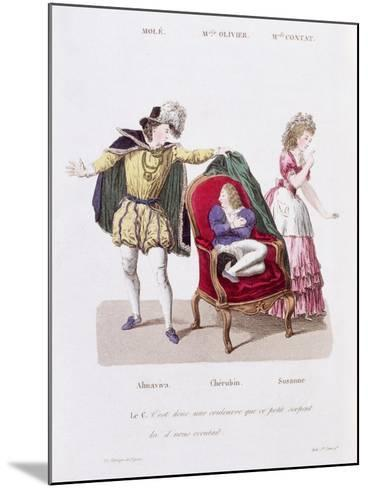 Count Discovers Cherubin, The Marriage of Figaro by Pierre Augustin Caron de Beamarchais--Mounted Giclee Print
