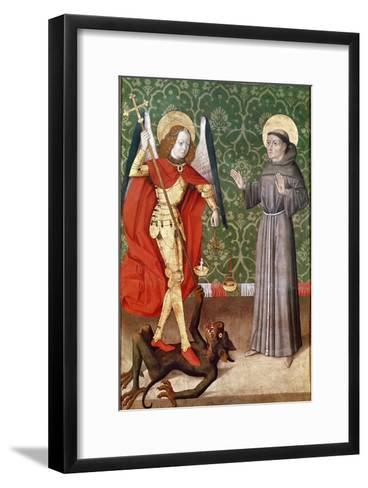 St. Michael and St. Francis of Assisi, c.1480--Framed Art Print
