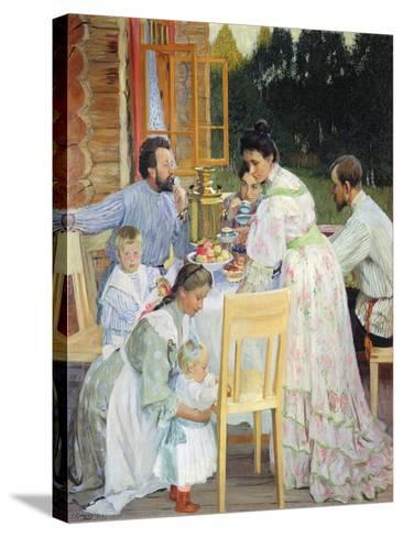 On the Terrace, 1906-B^ M^ Kustodiev-Stretched Canvas Print