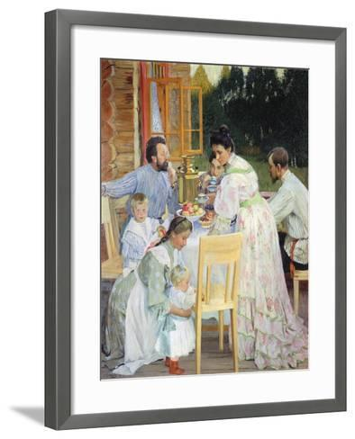 On the Terrace, 1906-B^ M^ Kustodiev-Framed Art Print