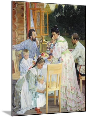 On the Terrace, 1906-B^ M^ Kustodiev-Mounted Giclee Print