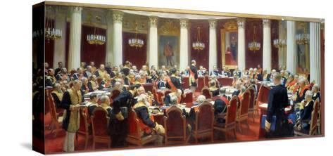 The Ceremonial Sitting of the State Council, 7th May 1901-Ilya Efimovich Repin-Stretched Canvas Print