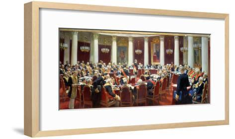 The Ceremonial Sitting of the State Council, 7th May 1901-Ilya Efimovich Repin-Framed Art Print