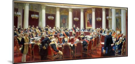 The Ceremonial Sitting of the State Council, 7th May 1901-Ilya Efimovich Repin-Mounted Giclee Print