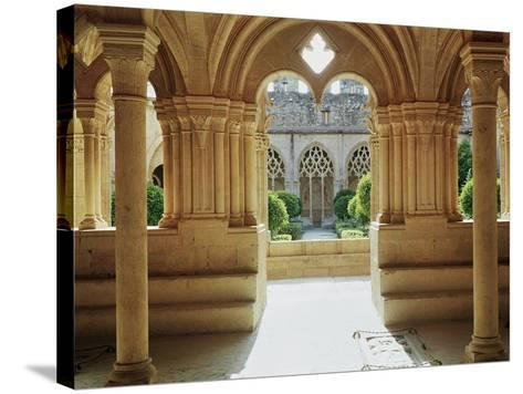 View Towards the Cloister from the Chapter House, 12th-13th Century--Stretched Canvas Print