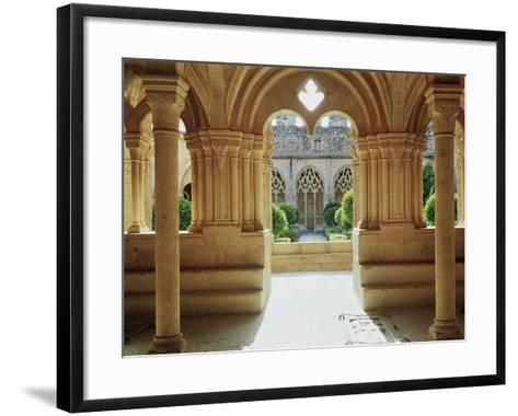View Towards the Cloister from the Chapter House, 12th-13th Century--Framed Art Print