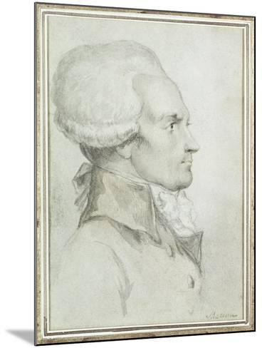 Portrait of Maximilien de Robespierre-Jean-Michel Moreau the Younger-Mounted Giclee Print