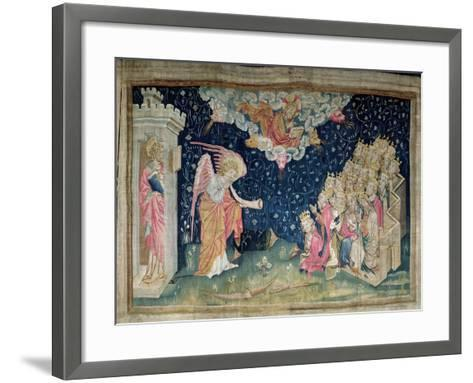Seventh Trumpet and Chant of the Twenty-Four Elders, No.34 'Apocalypse of Angers', 1373-87-Nicolas Bataille-Framed Art Print